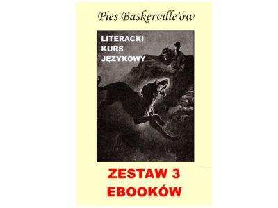 3 ebooki: Pies Baskerville'ów, Tłumacz grecki, nauka angielskiego z książką dwujęzyczną