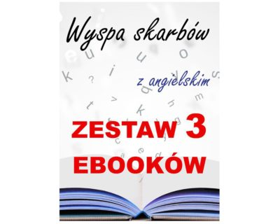 3 ebooki: Wyspa skarbów, Tłumacz grecki, nauka angielskiego z książką dwujęzyczną